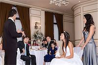 Father making speech at daughters quinceanera Stock Photo - Premium Royalty-Freenull, Code: 6114-06648213