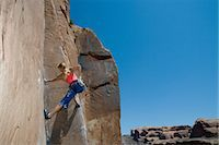rock climber - Rock climber Stock Photo - Premium Royalty-Freenull, Code: 6114-06649527
