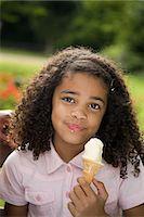 Girl with ice cream Stock Photo - Premium Royalty-Freenull, Code: 6114-06650709