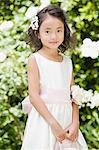 Flower girl Stock Photo - Premium Royalty-Free, Artist: Blend Images, Code: 6114-06650807