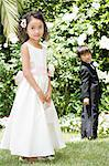 Flower girl and ring bearer Stock Photo - Premium Royalty-Free, Artist: Albert Normandin, Code: 6114-06650830