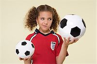 footballeur - Girl with footballs Stock Photo - Premium Royalty-Freenull, Code: 6114-06651040