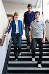 Teenagers walking down steps Stock Photo - Premium Royalty-Free, Artist: KL Services, Code: 6114-06651429