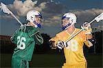 Lacrosse players Stock Photo - Premium Royalty-Free, Artist: Blend Images, Code: 6114-06651553