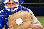 Baseball catcher Stock Photo - Premium Royalty-Free, Artist: Blend Images, Code: 6114-06651563