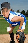 Baseball player Stock Photo - Premium Royalty-Free, Artist: Cultura RM, Code: 6114-06651580