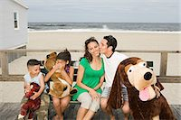 Family by the coast Stock Photo - Premium Royalty-Freenull, Code: 6114-06652957