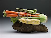 Bundle of vegetables Stock Photo - Premium Royalty-Freenull, Code: 6114-06653051