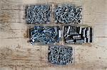 Boxes of screws Stock Photo - Premium Royalty-Free, Artist: Westend61, Code: 6114-06653537