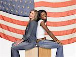 Friends back to back Stock Photo - Premium Royalty-Freenull, Code: 6114-06655887