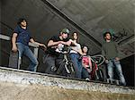 Group of teenagers at skate ramp Stock Photo - Premium Royalty-Free, Artist: Rick Gomez, Code: 6114-06656539