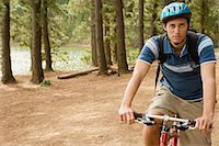 Cyclist in the forest Stock Photo - Premium Royalty-Freenull, Code: 6114-06656775
