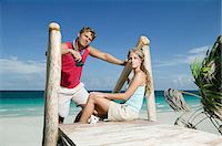 paradise (place of bliss) - Couple on paradise beach Stock Photo - Premium Royalty-Freenull, Code: 6114-06657320