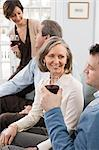 People having wine Stock Photo - Premium Royalty-Free, Artist: CulturaRM, Code: 6114-06658114