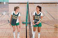 Rival badminton players Stock Photo - Premium Royalty-Freenull, Code: 6114-06658305