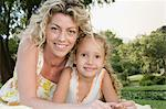 Mother and daughter outdoors Stock Photo - Premium Royalty-Free, Artist: Blend Images, Code: 6114-06659248