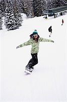 Snowboarders Stock Photo - Premium Royalty-Freenull, Code: 6114-06660874