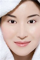 facial - Woman steaming her face Stock Photo - Premium Royalty-Freenull, Code: 6114-06660979