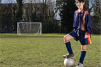 Girl footballer Stock Photo - Premium Royalty-Freenull, Code: 6114-06661092