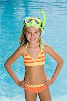 Girl with a snorkel Stock Photo - Premium Royalty-Freenull, Code: 6114-06661704