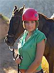 Portrait of a girl with a horse Stock Photo - Premium Royalty-Free, Artist: AWL Images, Code: 6114-06662054