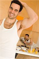 Portrait of a homosexual couple Stock Photo - Premium Royalty-Freenull, Code: 6114-06664270