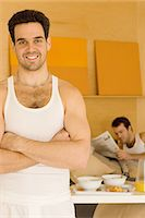 Portrait of a homosexual couple Stock Photo - Premium Royalty-Freenull, Code: 6114-06664287