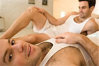 Portrait of a homosexual couple Stock Photo - Premium Royalty-Freenull, Code: 6114-06664309