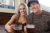 Young couple in pub Stock Photo - Premium Royalty-Freenull, Code: 6114-06664366