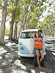 Young Couple in Front of Camper Van Stock Photo - Premium Royalty-Free, Artist: ableimages, Code: 693-06667796