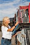 Senior woman checking her rural mailbox Stock Photo - Premium Royalty-Free, Artist: oliv, Code: 693-06667806