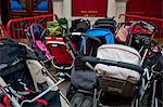 Group of prams outside theatre Stock Photo - Premium Royalty-Freenull, Code: 693-06667843