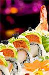 Shrimp Tempura Sushi Roll with Spicy Tuna, Roe, and Avocado Stock Photo - Premium Royalty-Free, Artist: Photocuisine, Code: 659-06670866