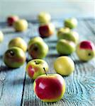 Crab Apples on a Wooden Table Stock Photo - Premium Royalty-Free, Artist: Susan Findlay, Code: 659-06671058