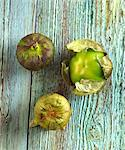 Three Tomatillos on Distressed Wood Stock Photo - Premium Royalty-Free, Artist: ableimages, Code: 659-06671103