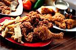 Fried Chicken with French Fries Stock Photo - Premium Royalty-Free, Artist: CulturaRM, Code: 659-06671187
