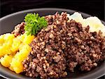 Haggis with mashed potato (Scotland) Stock Photo - Premium Royalty-Freenull, Code: 659-06671239