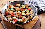 Chicken breast with tomatoes and courgette Stock Photo - Premium Royalty-Free, Artist: Photocuisine, Code: 659-06671286