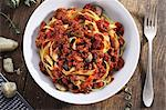 Tagliatelle with bolognese sauce and mushrooms Stock Photo - Premium Royalty-Free, Artist: Cultura RM, Code: 659-06671289