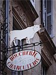 A butcher's sign in France Stock Photo - Premium Royalty-Free, Artist: CulturaRM, Code: 659-06671482