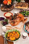 A Thanksgiving menu with roast turkey Stock Photo - Premium Royalty-Freenull, Code: 659-06671491