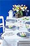 A table laid with a Dutch theme Stock Photo - Premium Royalty-Free, Artist: Dana Hursey, Code: 659-06671555