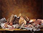 A still life with an assortment of Italian hams, salamis and sausages Stock Photo - Premium Royalty-Free, Artist: ableimages, Code: 659-06671653