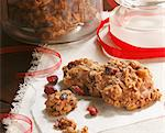 Homemade Oatmeal Cranberry Cookies with Red Ribbon Stock Photo - Premium Royalty-Free, Artist: Aflo Relax, Code: 659-06671656