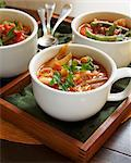 Three Cups of Vegetable Soup Stock Photo - Premium Royalty-Free, Artist: Oriental Touch           , Code: 659-06671657