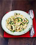 Spaghetti carbonara with courgette Stock Photo - Premium Royalty-Free, Artist: Cultura RM, Code: 659-06671704