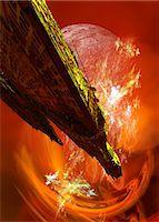 spaceship - Alien spaceship, computer artwork. Stock Photo - Premium Royalty-Freenull, Code: 679-06672732