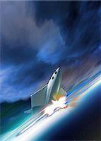 spaceship - Space tourism, computer artwork. Stock Photo - Premium Royalty-Freenull, Code: 679-06672740