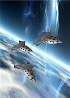 spaceship - Space tourism, computer artwork. Stock Photo - Premium Royalty-Freenull, Code: 679-06672743