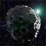 Asteroid, computer artwork. Stock Photo - Premium Royalty-Free, Artist: Aflo Relax, Code: 679-06672854